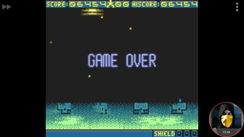 omargeddon: Space Invaders [Easy] (Game Boy Color Emulated) 6,454 points on 2018-04-23 19:54:33