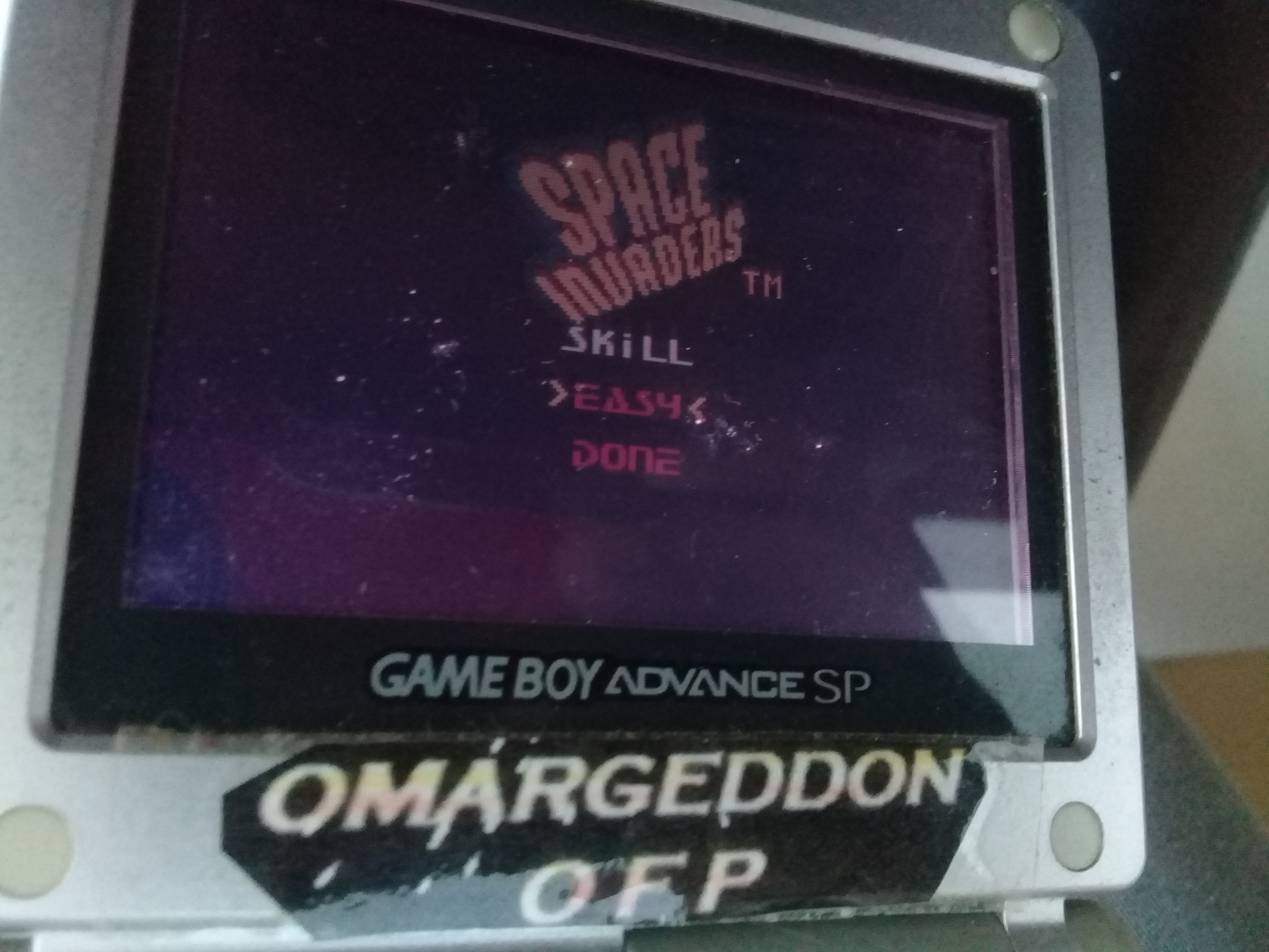 omargeddon: Space Invaders [Easy] (Game Boy Color) 8,637 points on 2019-04-19 17:35:23