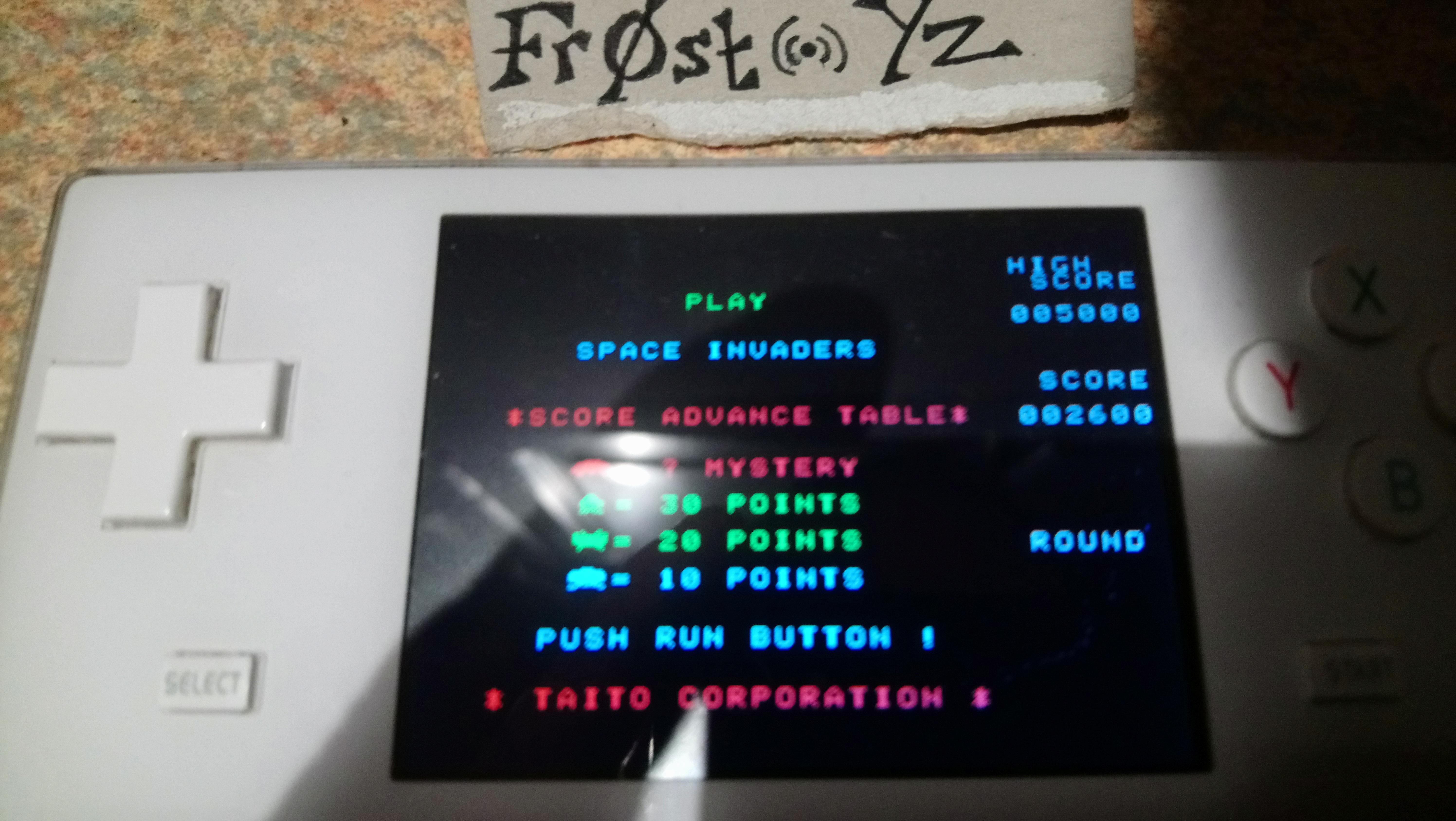 Fr0st: Space Invaders: Fukkatsu no Hi [Classic Mode] (TurboGrafx-16/PC Engine Emulated) 2,600 points on 2019-02-04 15:39:07