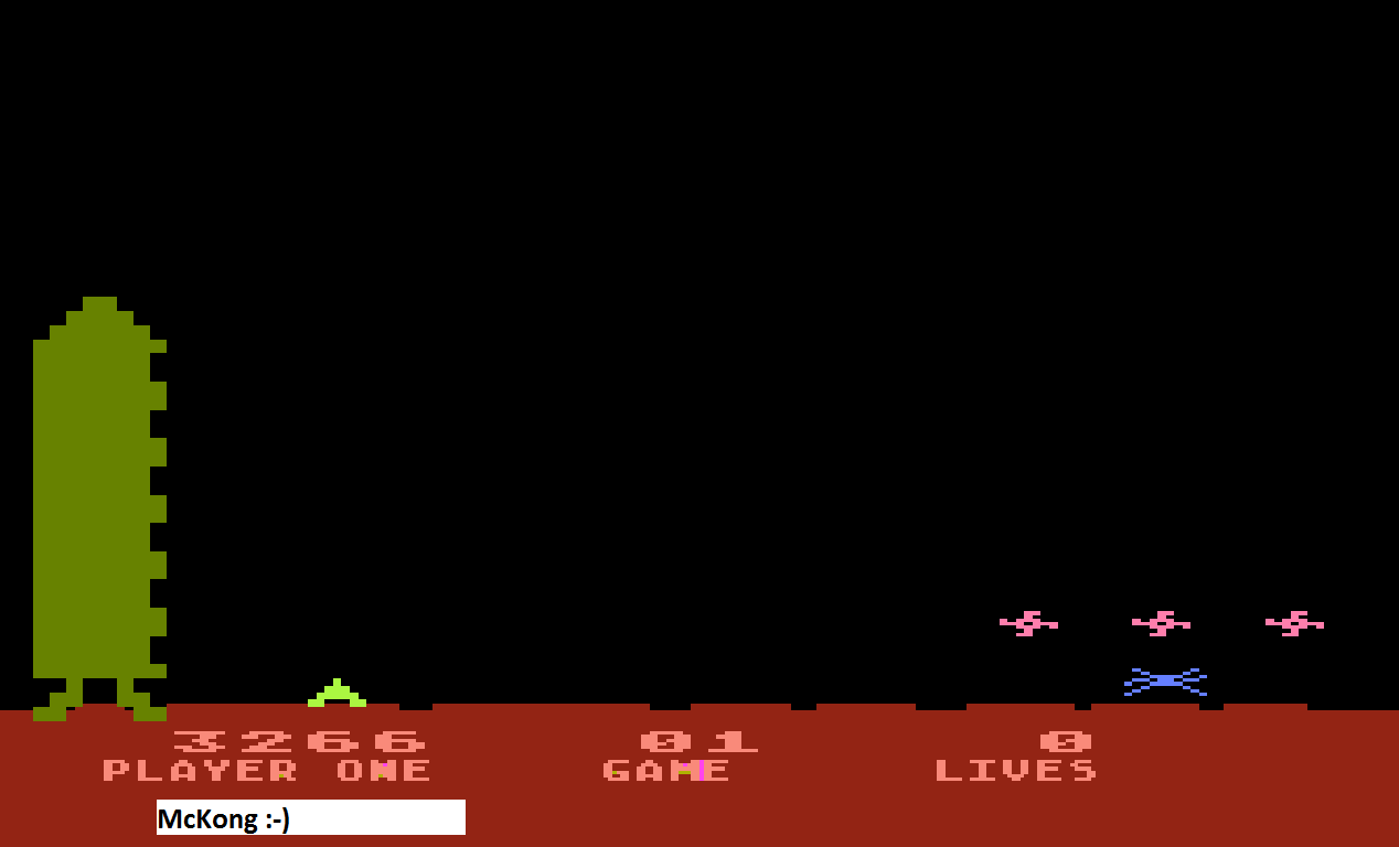 Space Invaders: Game 01 3,266 points