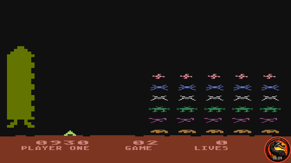 omargeddon: Space Invaders: Game 02 (Atari 400/800/XL/XE Emulated) 930 points on 2020-10-09 01:22:38
