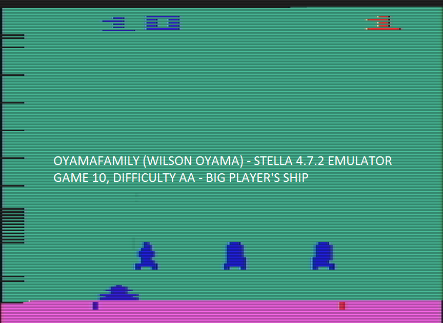 oyamafamily: Space Invaders: Game 10 (Atari 2600 Emulated Expert/A Mode) 400 points on 2016-07-30 15:03:41