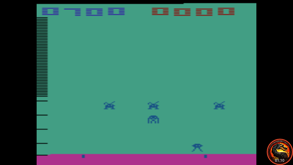 omargeddon: Space Invaders: Game 10 (Atari 2600 Emulated Novice/B Mode) 700 points on 2020-07-06 00:11:33