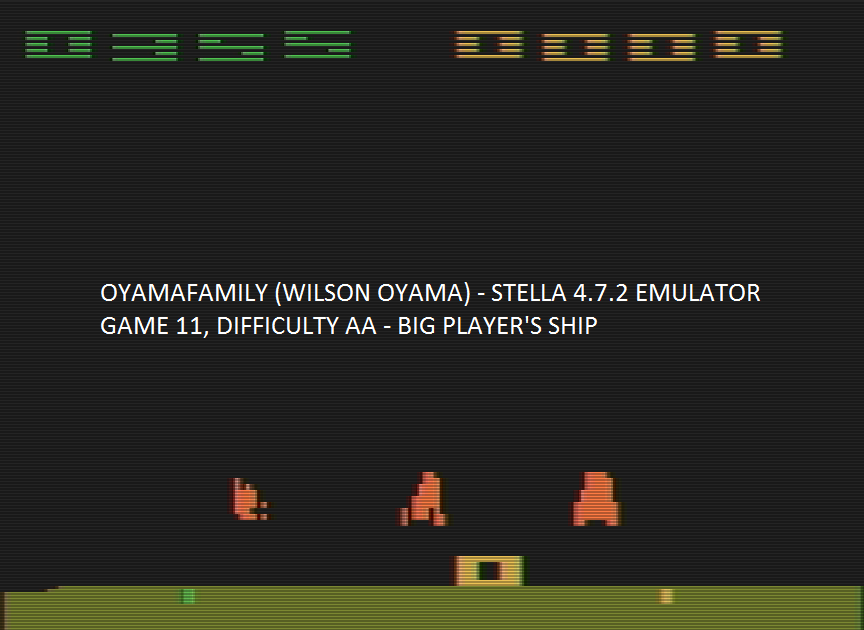 oyamafamily: Space Invaders: Game 11 (Atari 2600 Emulated Expert/A Mode) 355 points on 2016-07-30 15:03:51