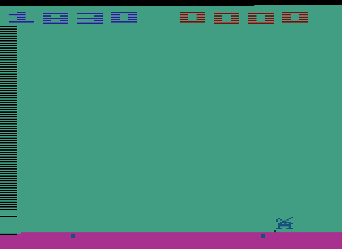 TheTrickster: Space Invaders: Game 11 (Atari 2600 Emulated Novice/B Mode) 1,830 points on 2016-07-30 04:40:50