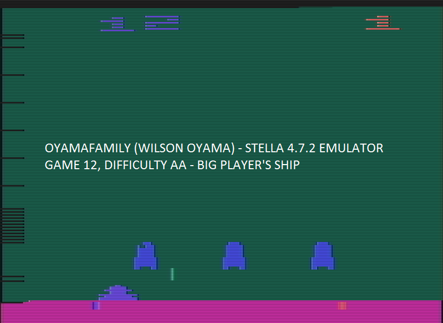 oyamafamily: Space Invaders: Game 12 (Atari 2600 Emulated Expert/A Mode) 360 points on 2016-07-30 15:06:23