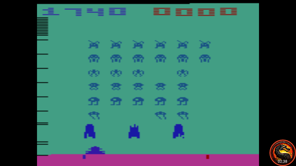 omargeddon: Space Invaders: Game 12 (Atari 2600 Emulated Expert/A Mode) 1,740 points on 2020-07-13 22:02:19