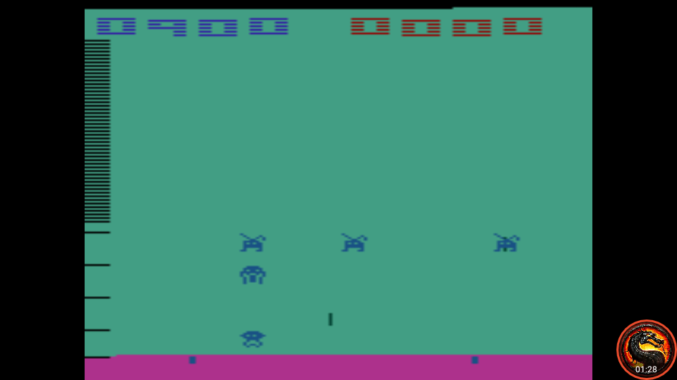 omargeddon: Space Invaders: Game 12 (Atari 2600 Emulated Novice/B Mode) 900 points on 2020-07-06 11:18:58