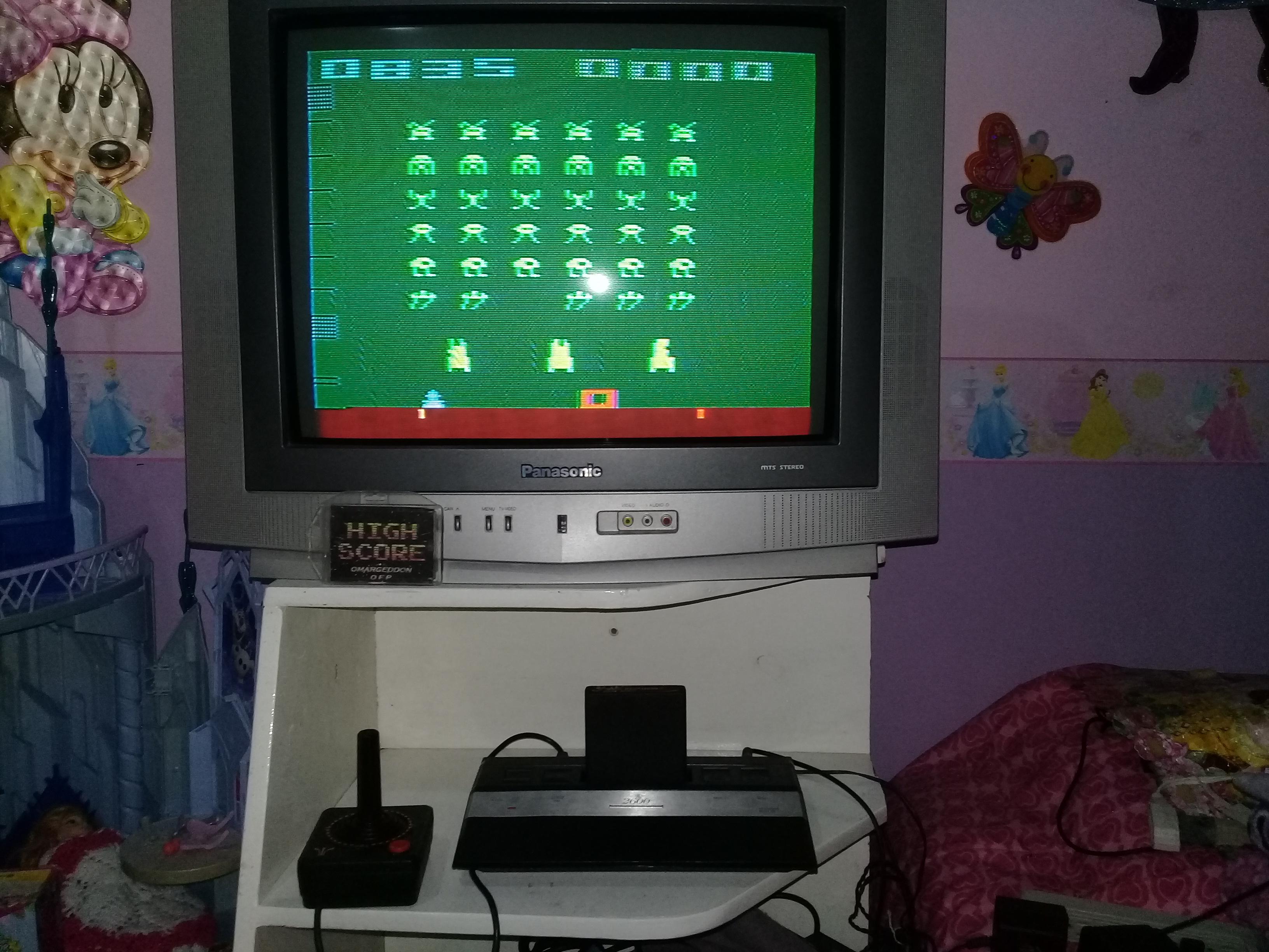 omargeddon: Space Invaders: Game 13 (Atari 2600 Novice/B) 835 points on 2019-05-22 20:20:53