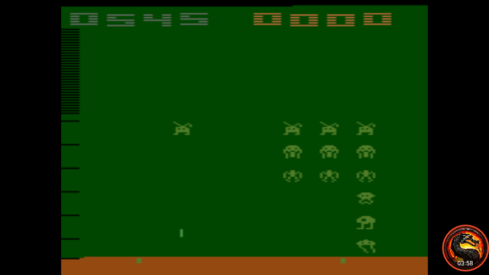 omargeddon: Space Invaders: Game 13 (Atari 2600 Emulated Expert/A Mode) 545 points on 2020-03-18 22:05:04