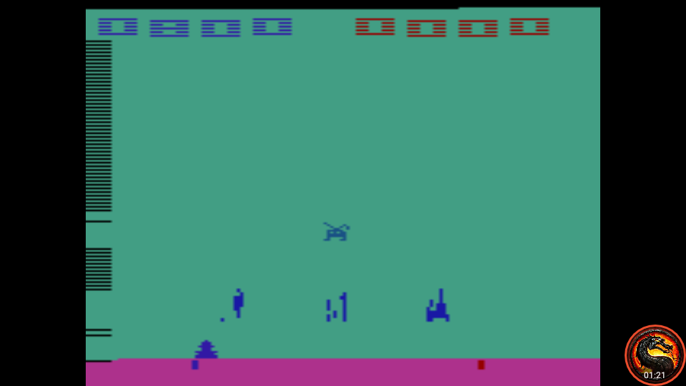 omargeddon: Space Invaders: Game 13 (Atari 2600 Emulated Novice/B Mode) 800 points on 2020-07-06 00:20:28