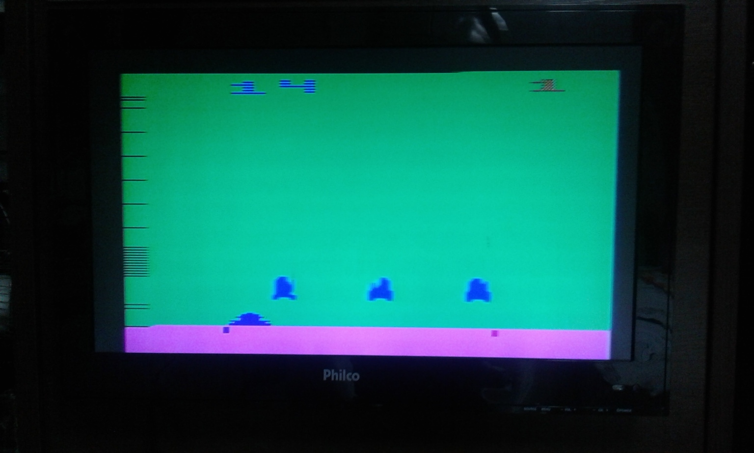 oyamafamily: Space Invaders: Game 14 (Atari 2600 Expert/A) 485 points on 2017-11-24 17:19:53