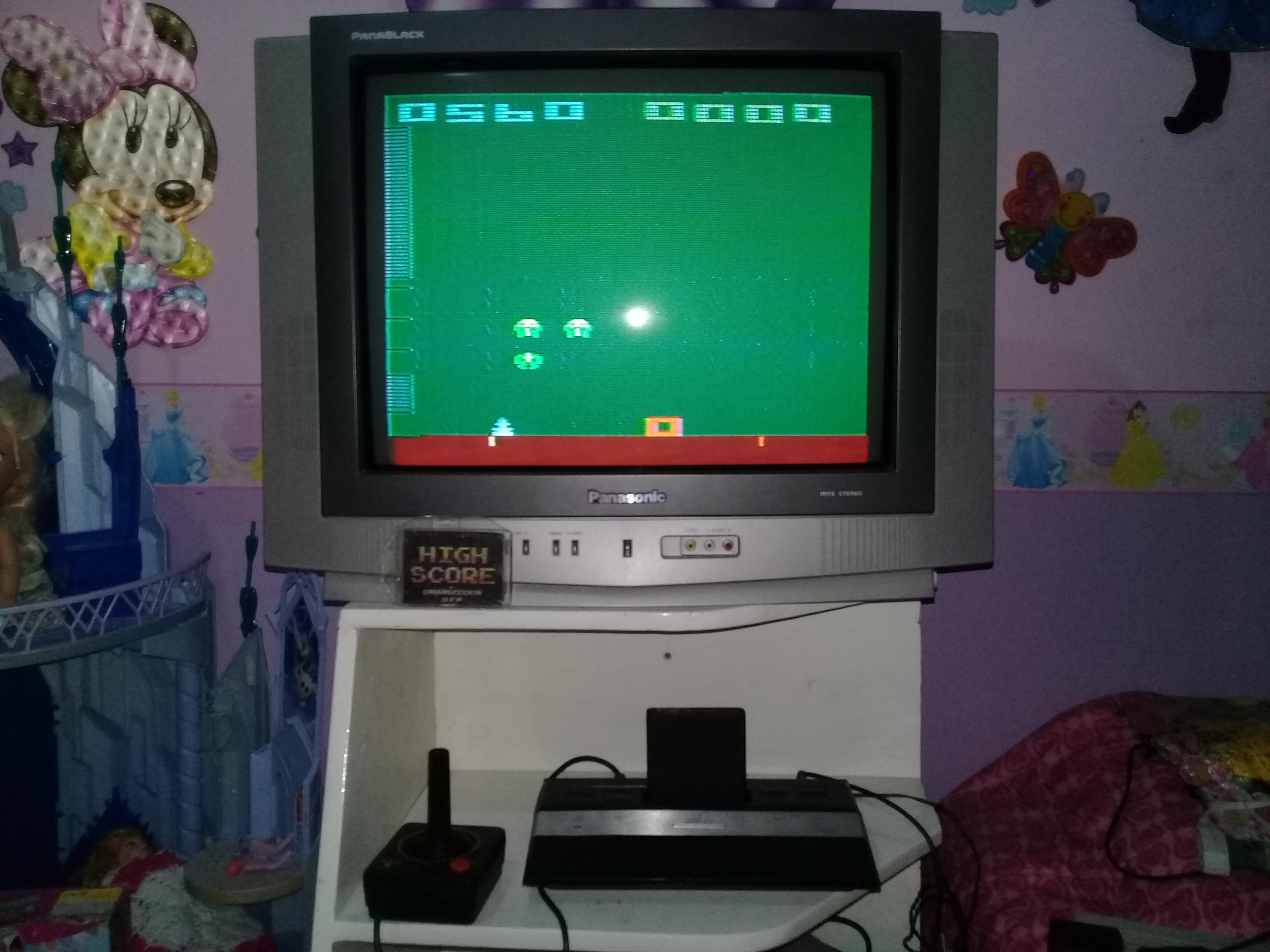 omargeddon: Space Invaders: Game 14 (Atari 2600 Novice/B) 560 points on 2019-05-22 20:23:48
