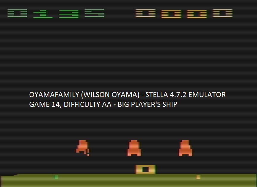 oyamafamily: Space Invaders: Game 14 (Atari 2600 Emulated Expert/A Mode) 135 points on 2016-07-30 15:00:38