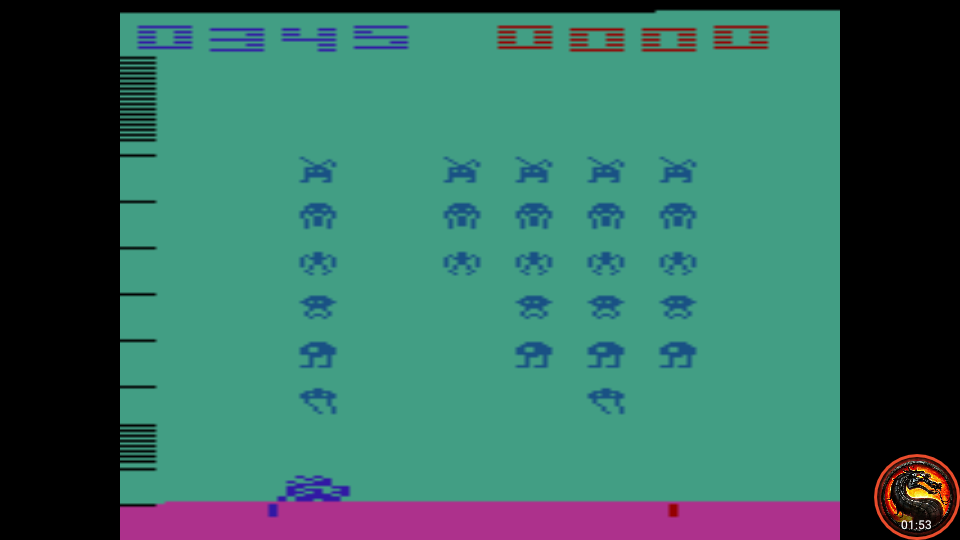 omargeddon: Space Invaders: Game 14 (Atari 2600 Emulated Expert/A Mode) 345 points on 2020-07-13 22:08:04