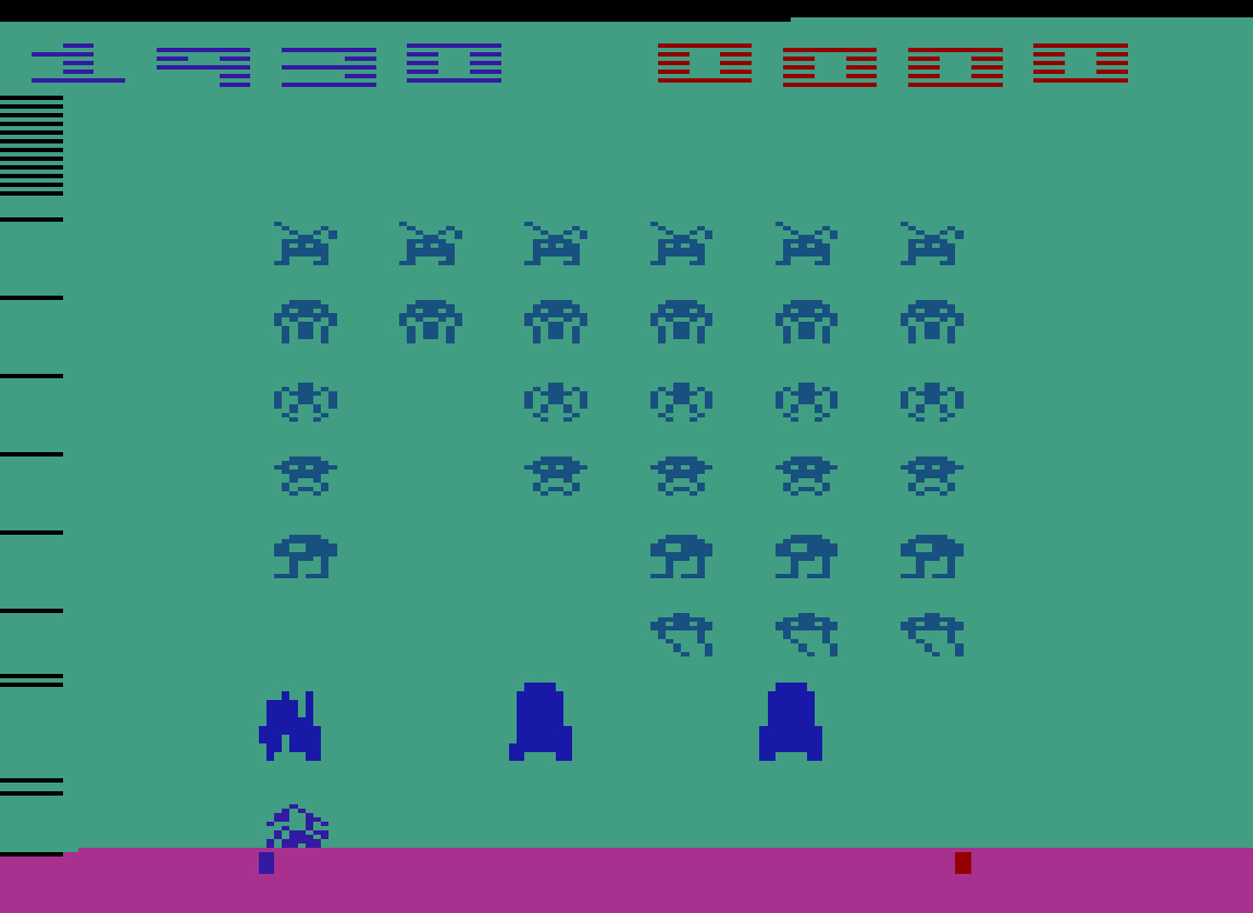 TheTrickster: Space Invaders: Game 14 (Atari 2600 Emulated Novice/B Mode) 1,930 points on 2016-07-30 04:43:53