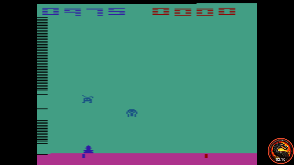 omargeddon: Space Invaders: Game 14 (Atari 2600 Emulated Novice/B Mode) 975 points on 2020-07-06 00:25:35