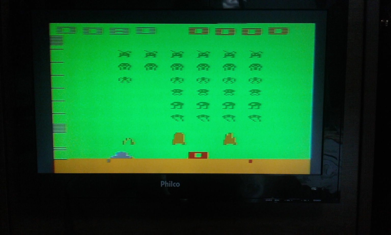 oyamafamily: Space Invaders: Game 15 (Atari 2600 Expert/A) 80 points on 2017-11-24 17:21:23
