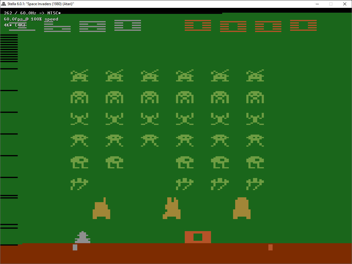 ZilchSr: Space Invaders: Game 15 (Atari 2600 Emulated Novice/B Mode) 1,680 points on 2019-08-10 03:46:12