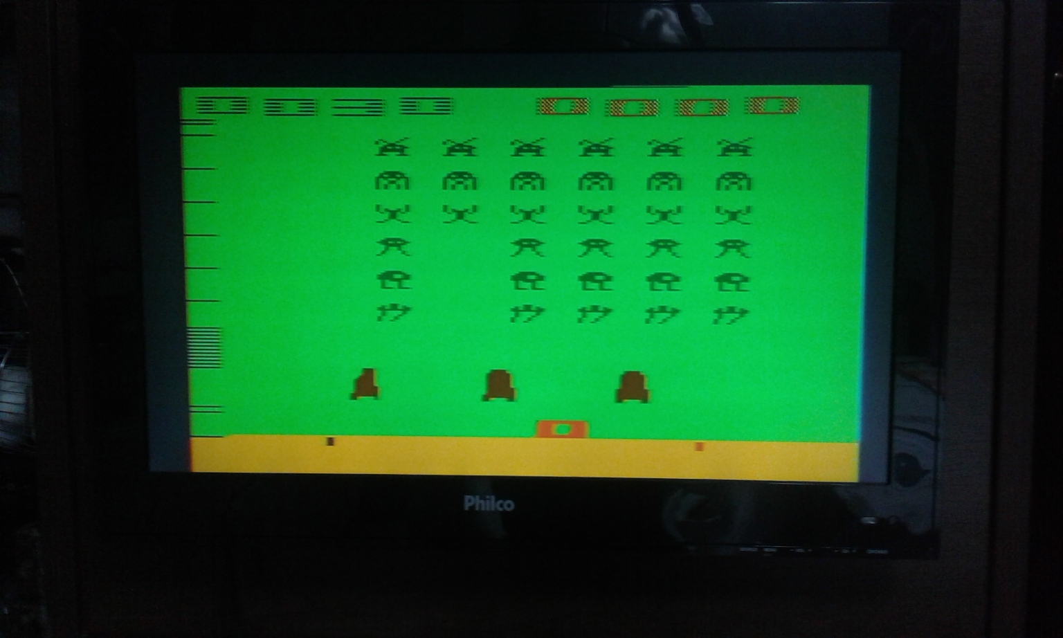 oyamafamily: Space Invaders: Game 16 (Atari 2600 Expert/A) 30 points on 2017-11-24 17:22:14