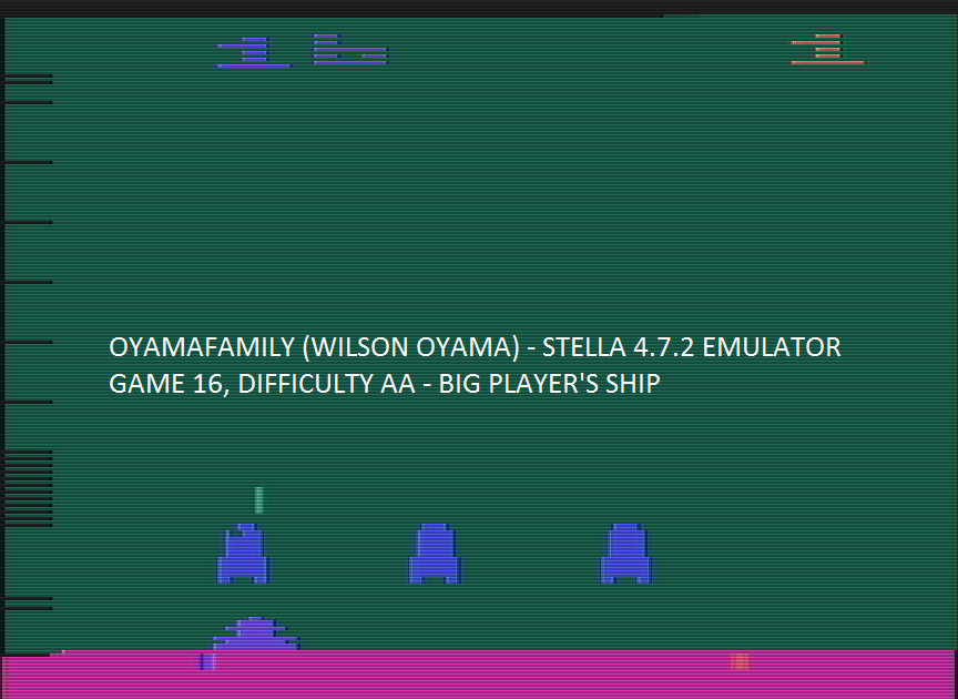 oyamafamily: Space Invaders: Game 16 (Atari 2600 Emulated Expert/A Mode) 30 points on 2016-07-30 14:57:20