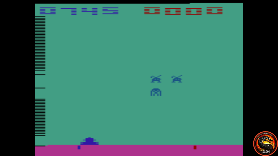 omargeddon: Space Invaders: Game 16 (Atari 2600 Emulated Expert/A Mode) 745 points on 2020-07-13 22:24:48