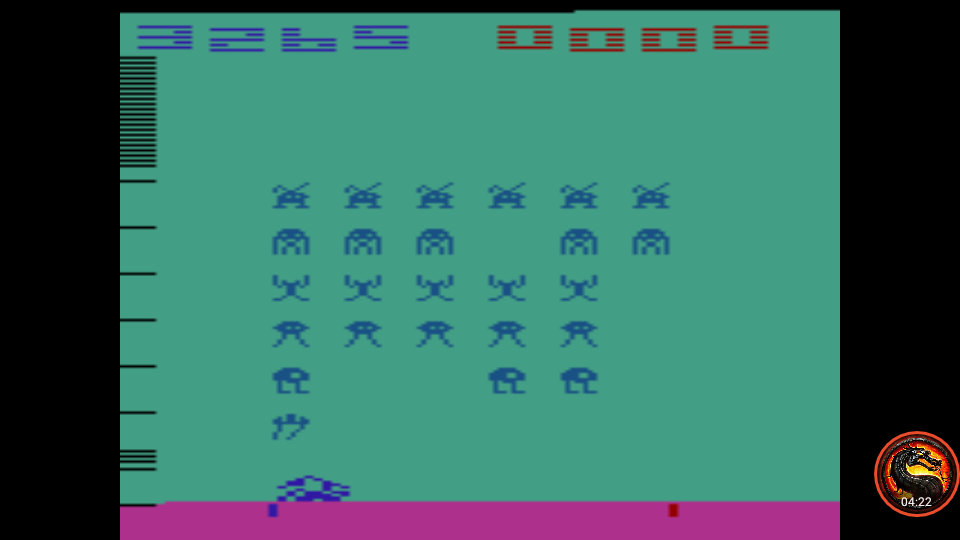 omargeddon: Space Invaders: Game 2 (Atari 2600 Emulated Expert/A Mode) 3,265 points on 2020-07-12 15:51:16