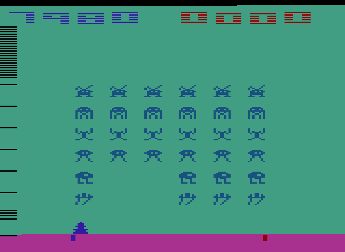 TheTrickster: Space Invaders: Game 2 (Atari 2600 Emulated Novice/B Mode) 17,980 points on 2016-07-14 03:04:16