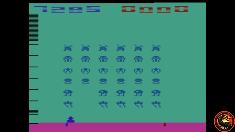 omargeddon: Space Invaders: Game 2 (Atari 2600 Emulated Novice/B Mode) 7,285 points on 2020-07-05 23:17:30