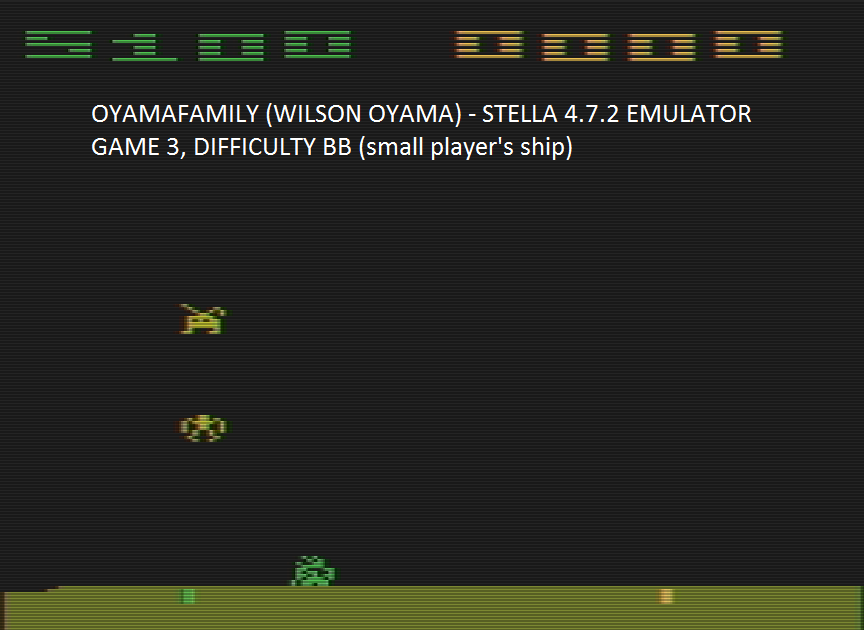 oyamafamily: Space Invaders: Game 3 (Atari 2600 Emulated Novice/B Mode) 5,100 points on 2016-07-23 16:02:37