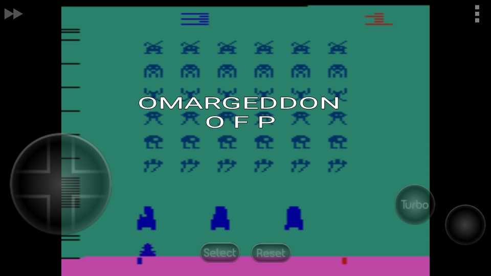 omargeddon: Space Invaders: Game 3 (Atari 2600 Emulated Novice/B Mode) 1,540 points on 2016-10-15 09:29:45