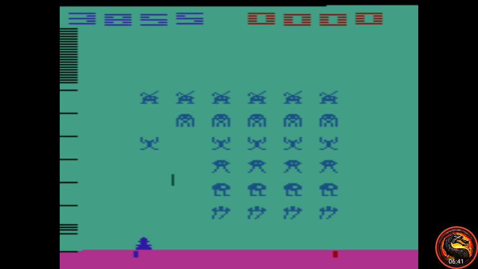 omargeddon: Space Invaders: Game 3 (Atari 2600 Emulated Novice/B Mode) 3,855 points on 2020-07-06 11:13:08