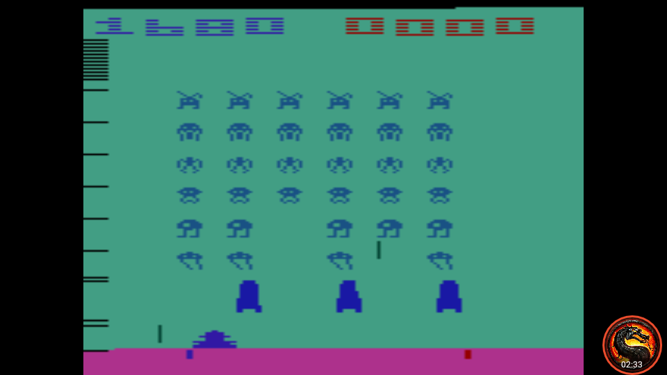 omargeddon: Space Invaders: Game 4 (Atari 2600 Emulated Expert/A Mode) 1,680 points on 2020-07-12 16:05:55