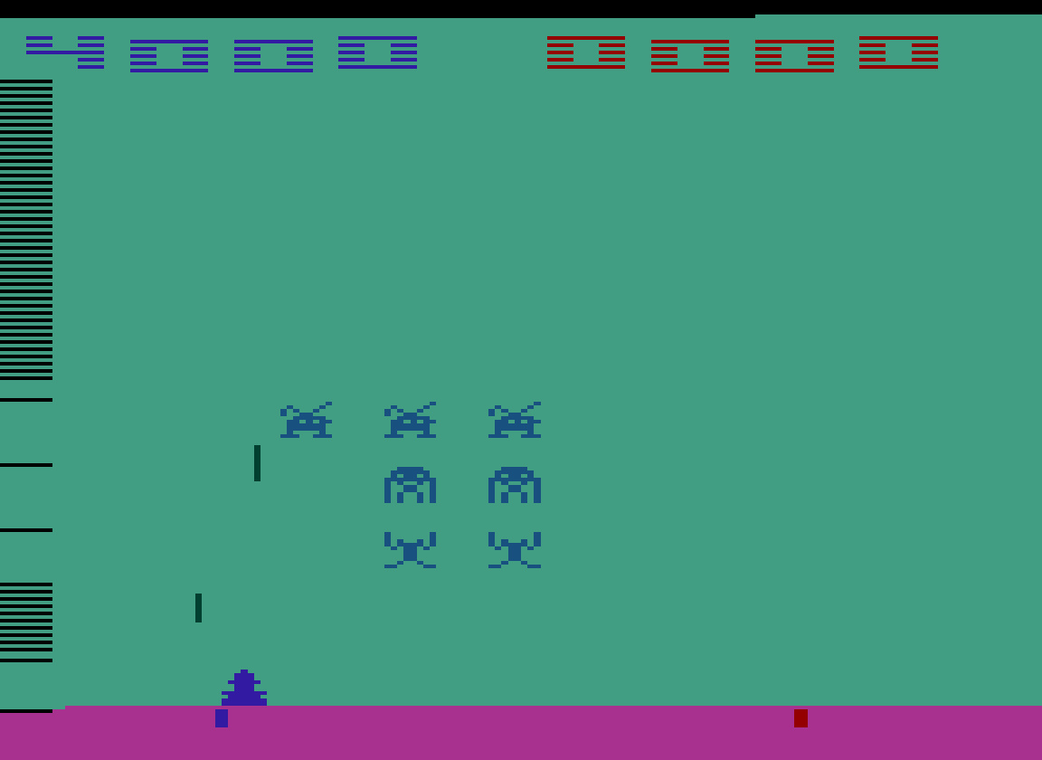 TheTrickster: Space Invaders: Game 4 (Atari 2600 Emulated Novice/B Mode) 4,000 points on 2016-07-15 04:52:53
