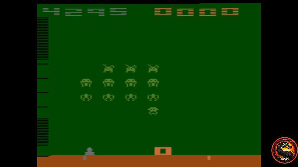 omargeddon: Space Invaders: Game 4 (Atari 2600 Emulated Novice/B Mode) 4,295 points on 2020-07-05 23:34:36