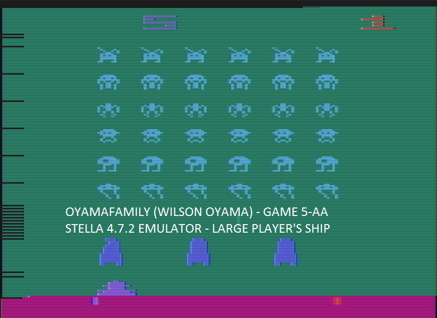 oyamafamily: Space Invaders: Game 5 (Atari 2600 Emulated Expert/A Mode) 360 points on 2016-07-16 07:57:19