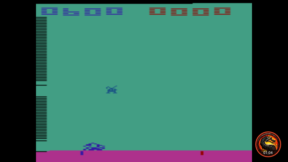 omargeddon: Space Invaders: Game 5 (Atari 2600 Emulated Expert/A Mode) 600 points on 2020-07-12 16:16:23