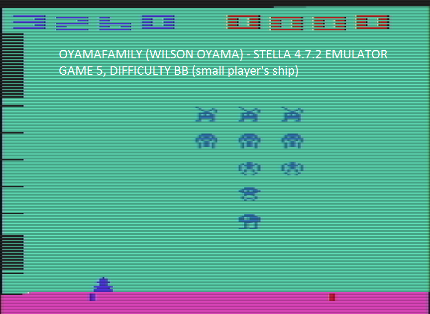 oyamafamily: Space Invaders: Game 5 (Atari 2600 Emulated Novice/B Mode) 3,260 points on 2016-07-23 16:02:57
