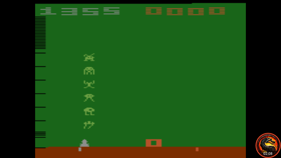 omargeddon: Space Invaders: Game 5 (Atari 2600 Emulated Novice/B Mode) 1,355 points on 2020-07-05 23:42:38