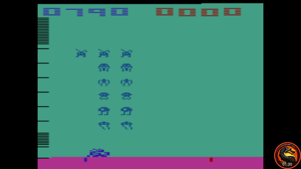 omargeddon: Space Invaders: Game 6 (Atari 2600 Emulated Expert/A Mode) 790 points on 2020-07-12 16:19:57