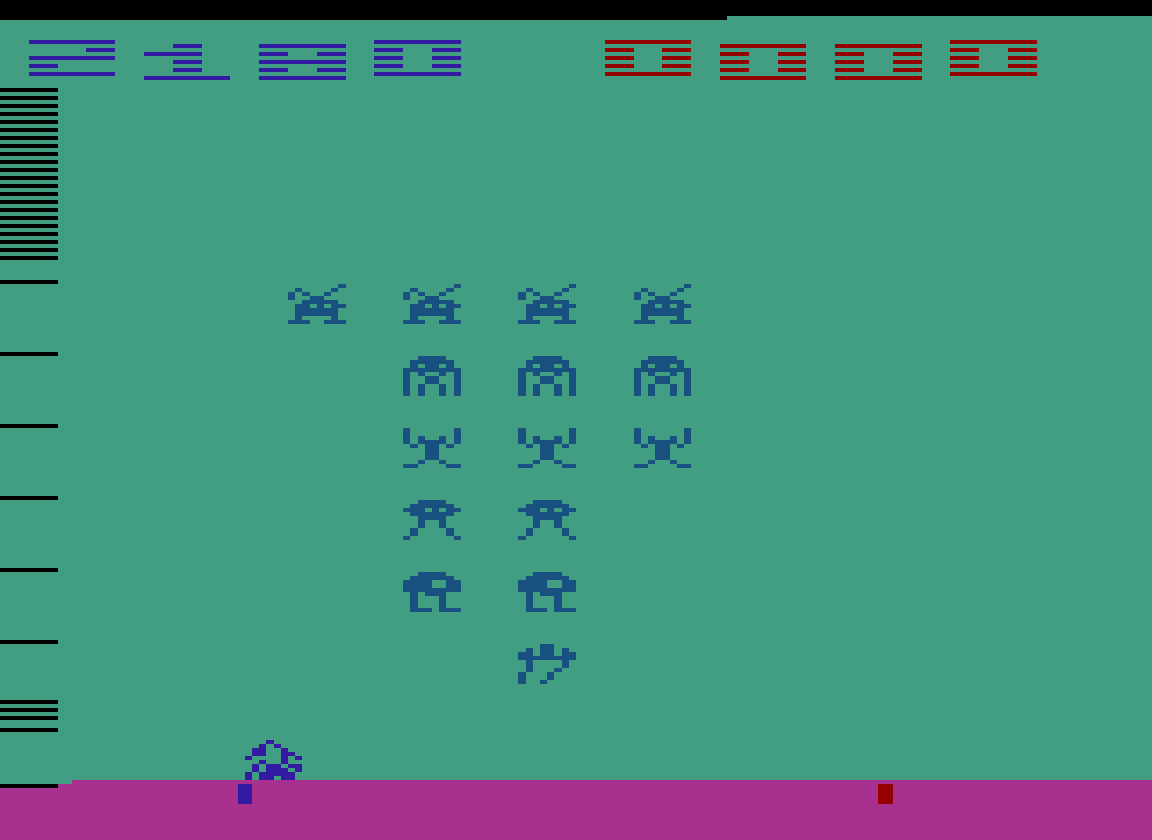 TheTrickster: Space Invaders: Game 6 (Atari 2600 Emulated Novice/B Mode) 2,180 points on 2016-07-11 07:11:53
