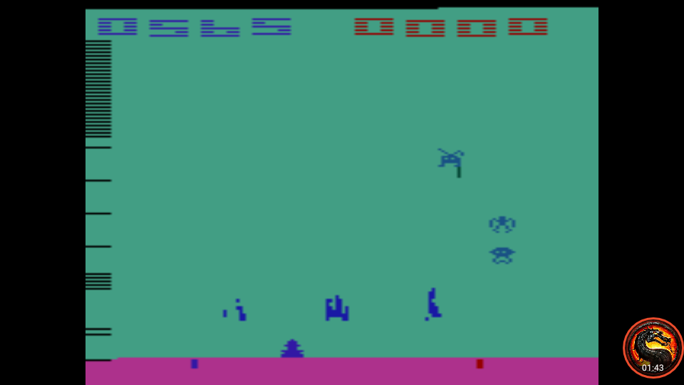 omargeddon: Space Invaders: Game 6 (Atari 2600 Emulated Novice/B Mode) 565 points on 2020-07-05 23:45:46