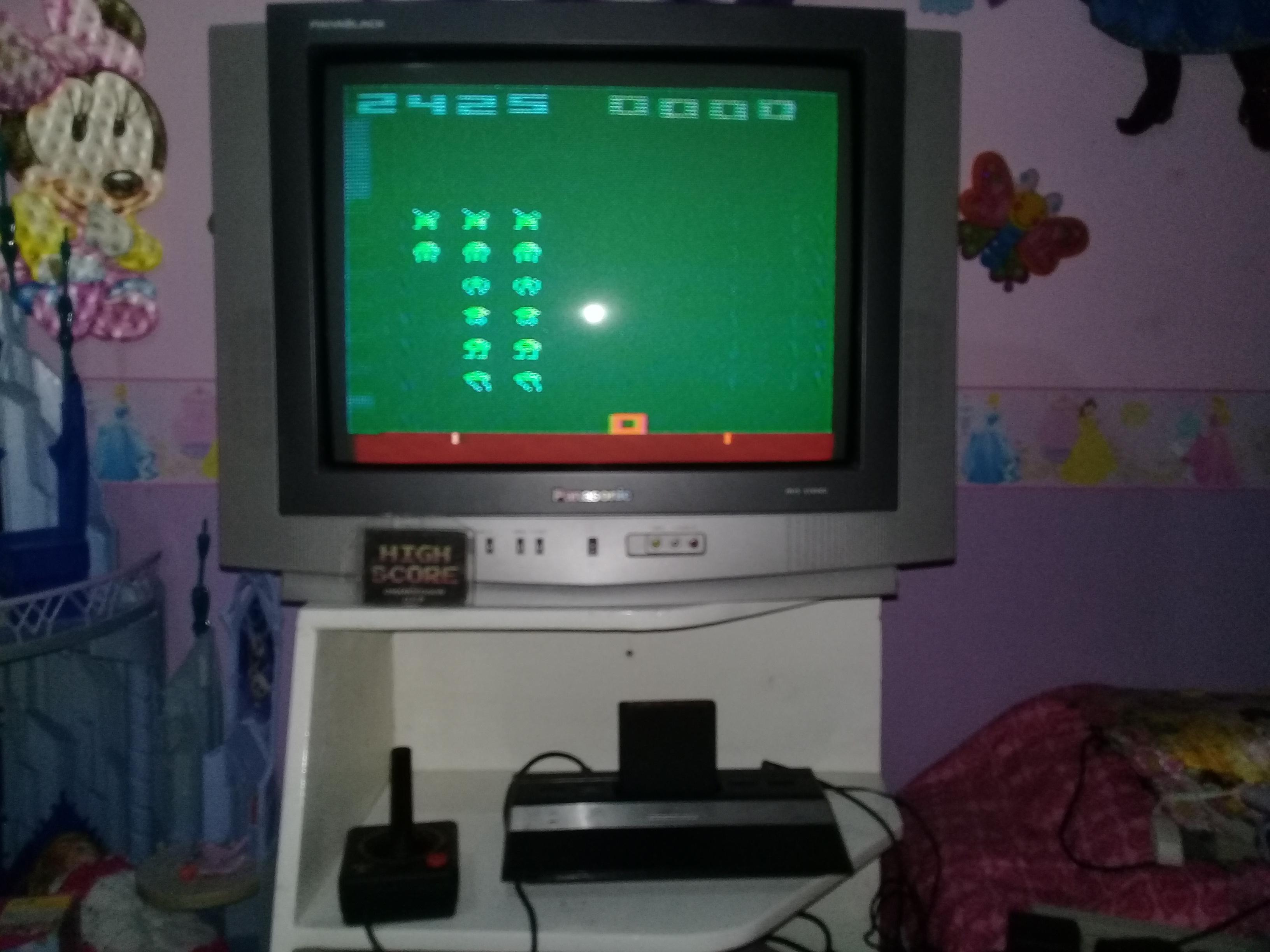 omargeddon: Space Invaders: Game 7 (Atari 2600 Novice/B) 2,425 points on 2019-05-22 20:33:18