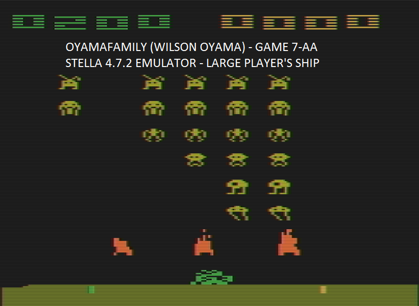 oyamafamily: Space Invaders: Game 7 (Atari 2600 Emulated Expert/A Mode) 200 points on 2016-07-16 07:56:23