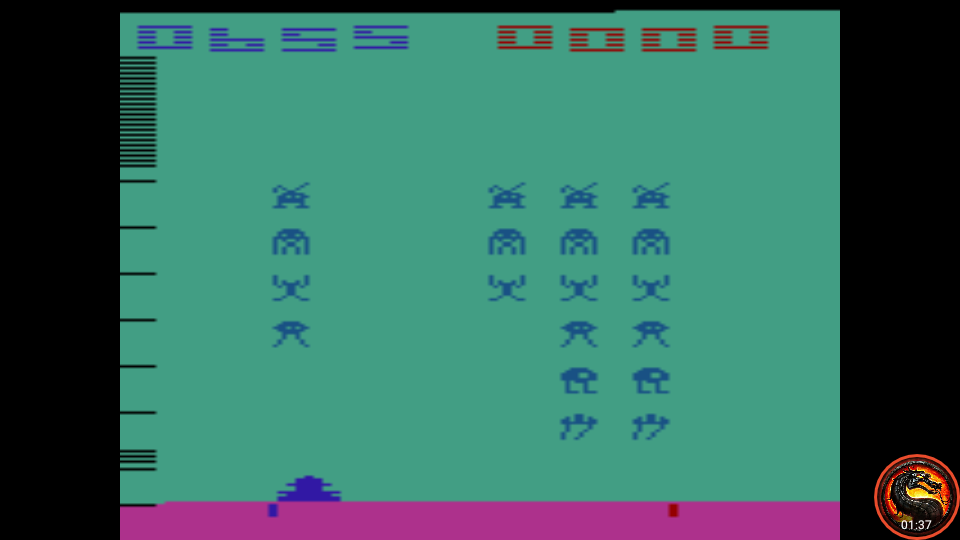 omargeddon: Space Invaders: Game 7 (Atari 2600 Emulated Expert/A Mode) 655 points on 2020-07-12 16:21:03
