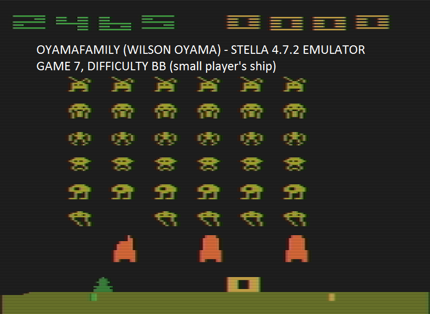 Space Invaders: Game 7 2,465 points
