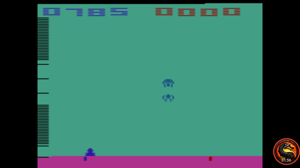 omargeddon: Space Invaders: Game 7 (Atari 2600 Emulated Novice/B Mode) 785 points on 2020-07-05 23:49:53