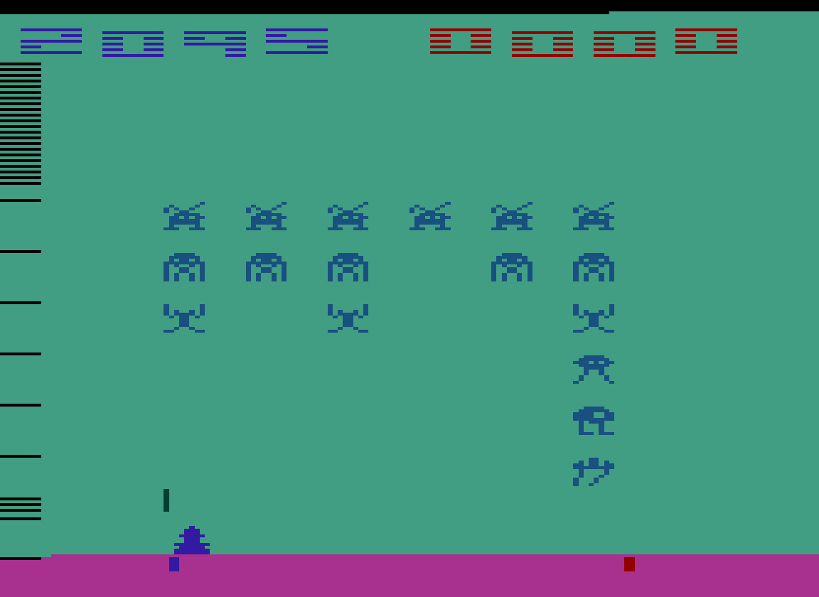 TheTrickster: Space Invaders: Game 8 (Atari 2600 Emulated Novice/B Mode) 2,095 points on 2016-07-15 04:56:32