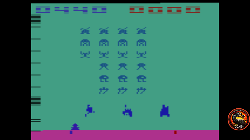 omargeddon: Space Invaders: Game 8 (Atari 2600 Emulated Novice/B Mode) 440 points on 2020-07-05 23:53:37
