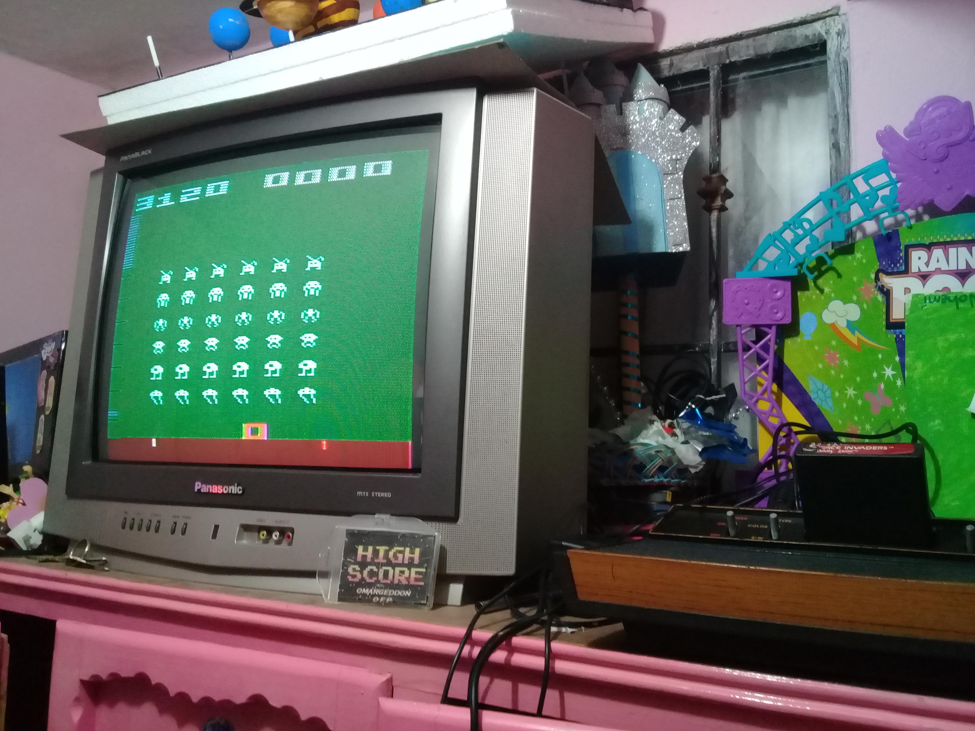 omargeddon: Space Invaders: Game 9 (Atari 2600 Novice/B) 3,120 points on 2019-01-14 09:27:01